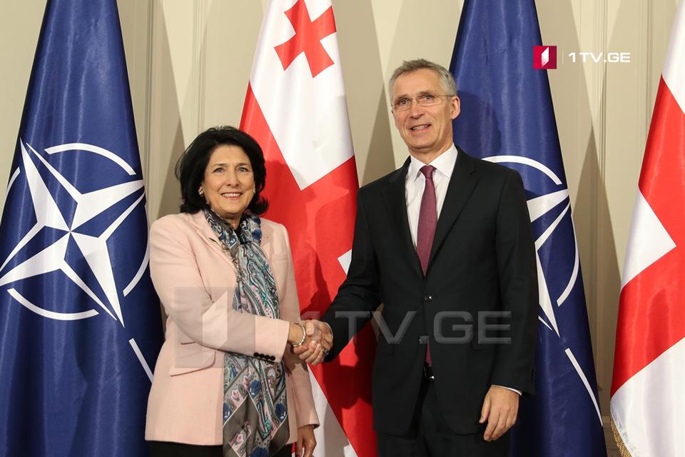 Саломе Зурабишвили встретилась с генсеком НАТО