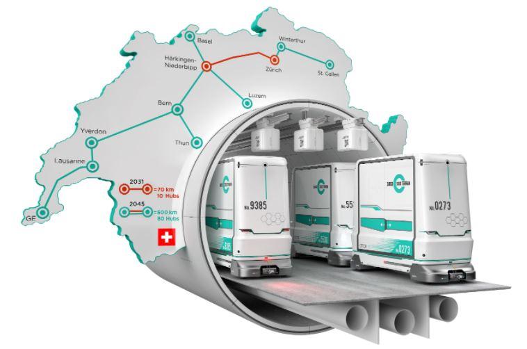 შვეიცარიის პარლამენტი ტვირთების მიწისქვეშა ტრანსპორტირების პროექტის განხილვას იწყებს