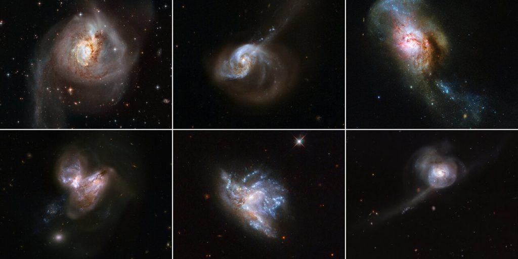 როცა გალაქტიკები ერთმანეთს ეჯახებიან — ჰაბლმა გალაქტიკათა შერწყმის ექვსი მოვლენა გადაიღო #1tvმეცნიერება