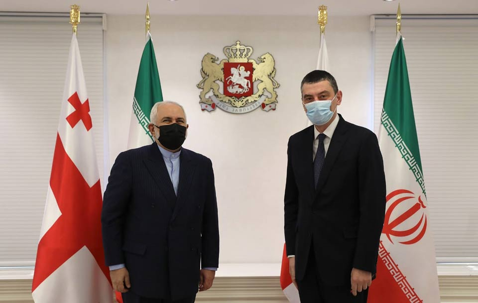 Georgian high-ranking officials discuss regional development with Iranian FM
