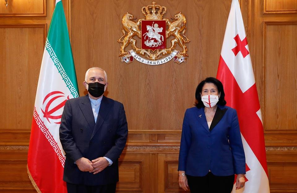 Salome Zurabişvili İran Xarici İşlər naziri ilə görüşdü
