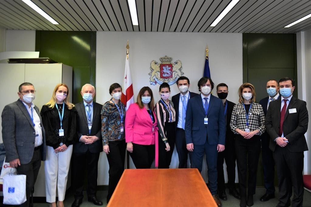 Avropa Şurası Parlament Assambleyasında Gürcüstan nümayəndə heyəti Ukrayna həmkarları ilə görüşdü