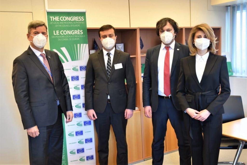 Իրակլի Կոբախիձեն հանդիպել է Եվրոպայի խորհրդի տեղական և տարածաշրջանային իշխանությունների կոնգրեսի գլխավոր քարտուղարի հետ