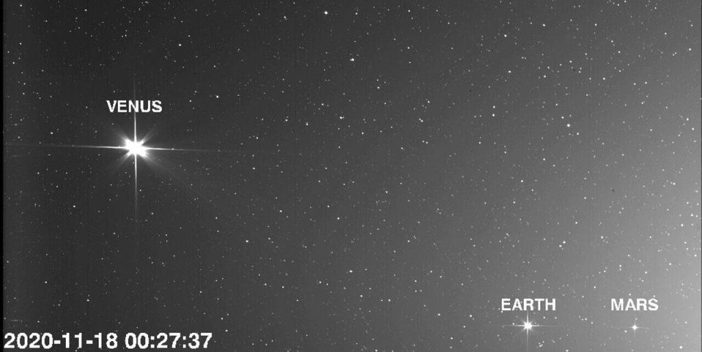 ვარსკვლავებივით მოკაშკაშე ვენერა, დედამიწა და მარსი მზისკენ მიმავალი ხომალდის მიერ გადაღებულ ფოტოზე — #1tvმეცნიერება