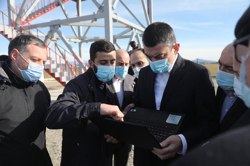 გიორგი გახარია ქუთაისის მეტეოროლოგიური სადგურის თანამედროვე რადარის შესაძლებლობებს გაეცნო