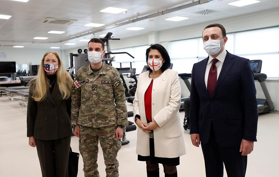 Georgian officials, US Ambassador tour Maro Makashvili Wounded Warrior Rehabilitation Center