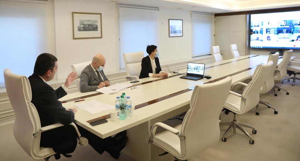 Георгий Гахария обсудил стратегию партнерства с вице-президентом Всемирного банка