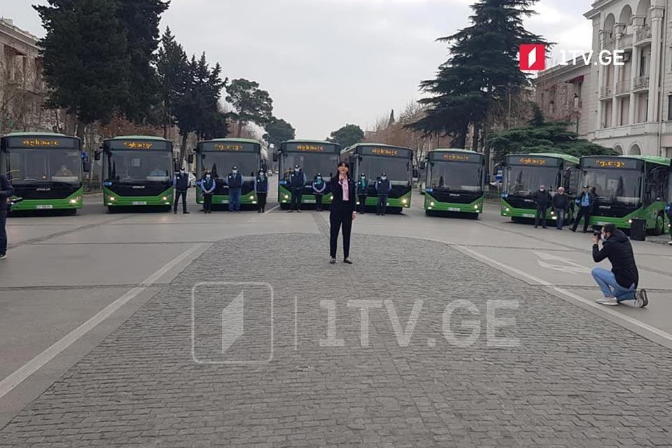 რუსთავში ახალი ავტობუსები იმოძრავებს