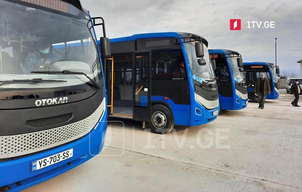 თელავში ხუთი ახალი, თანამედროვე სტანდარტების შესაბამისი ავტობუსი იმოძრავებს