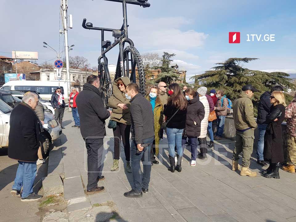 Антиоккупационное движение «Сила в единстве» проводит сегодня акцию протеста у крепости Схвило
