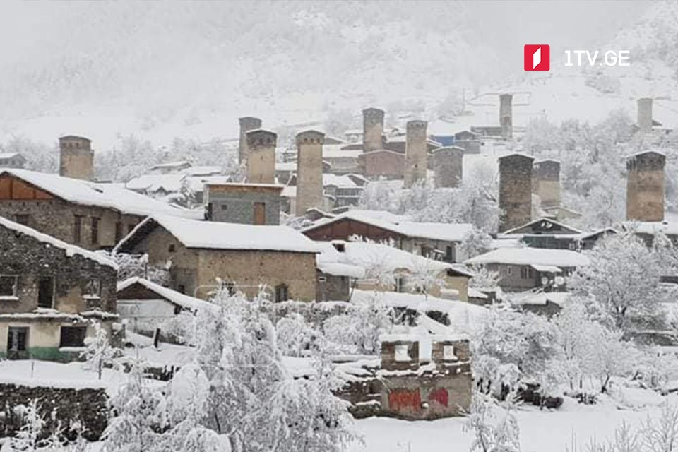 მესტიაში თოვლის საფარმა 50 სანტიმეტრს მიაღწია