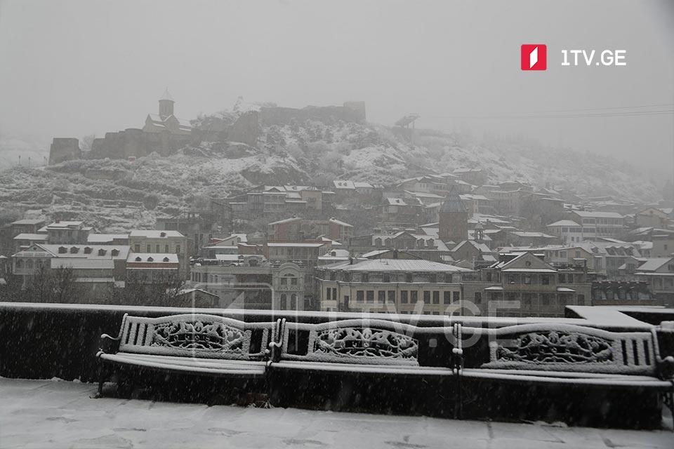 Снег в Тбилиси (фото)