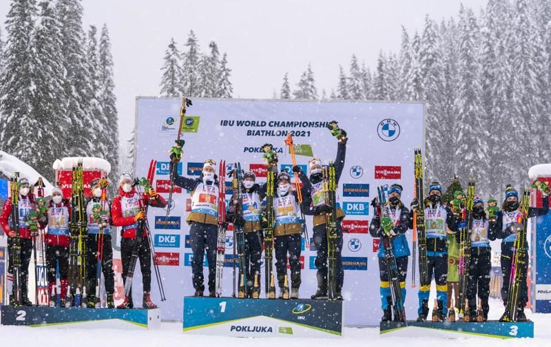 მსოფლიო ჩემპიონატზე ბიატლონში ესტაფეტა კაცებშიც და ქალებშიც ნორვეგიამ მოიგო