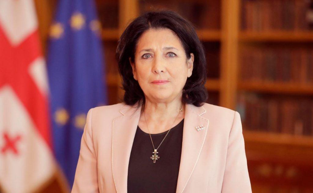Salome Zurabişvili - Litvalı həmkarımla müsbət söhbətim var idi, Gürcüstan Avroatlantik strukturlarına inteqrasiyasına doğru qəti gedişini davam etdirir