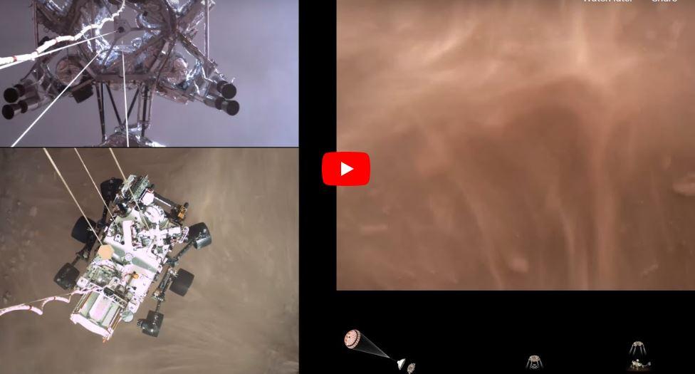 """NASA """"პერსევერანსის"""" მიერ მარსზე დაშვებისას გადაღებულ ვიდეოს აქვეყნებს — #1tvმეცნიერება"""
