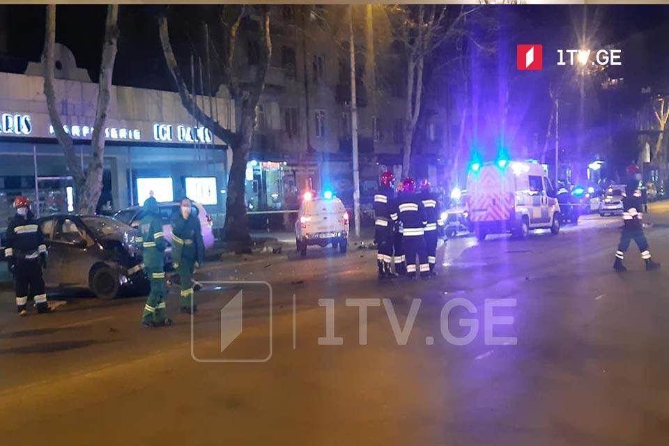 თბილისში, წერეთლის გამზირზე ავარიის შედეგად სამი ადამიანი დაიღუპა