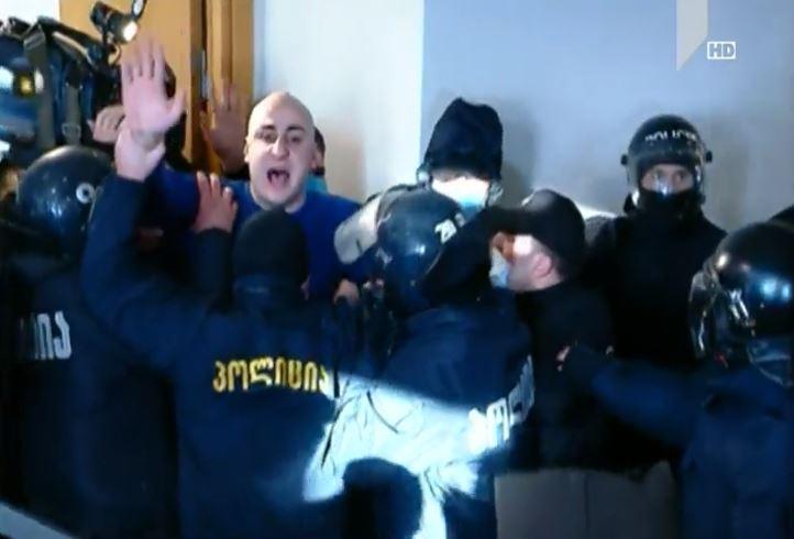 ნიკა მელია დააკავეს (ვიდეო)