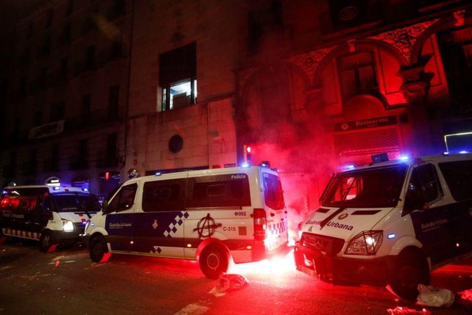 ესპანეთში დაკავებული რეპერის მხარდამჭერების აქციაზე ათი ადამიანი დააკავეს