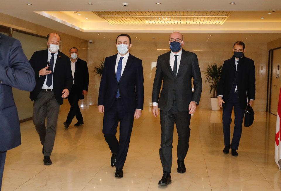 Georgian PM: President Michel's visit confirms EU's support