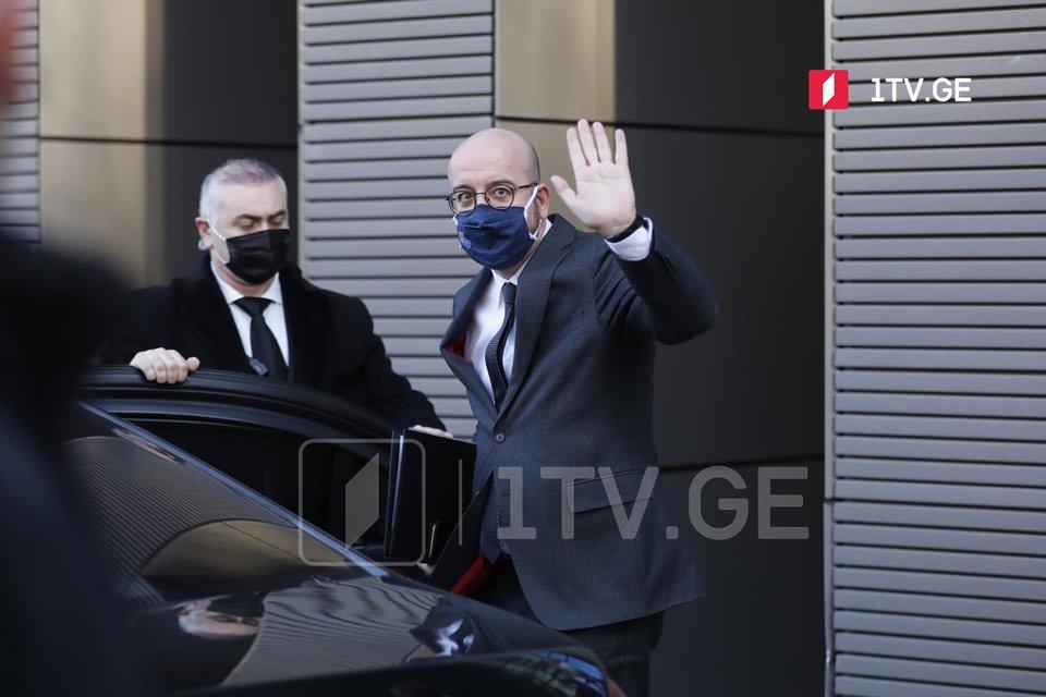 Tbilisi Beynəlxalq Aeroportunda Avropa Şurası prezidenti, Şarl Mişelin rəsmi yola salma mərasimi keçirildi