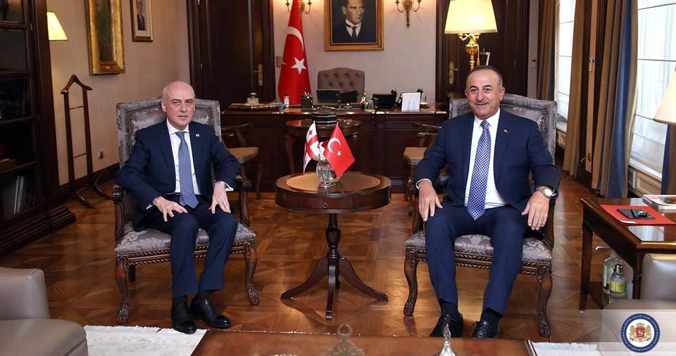 Georgian FM meets Turkish counterpart