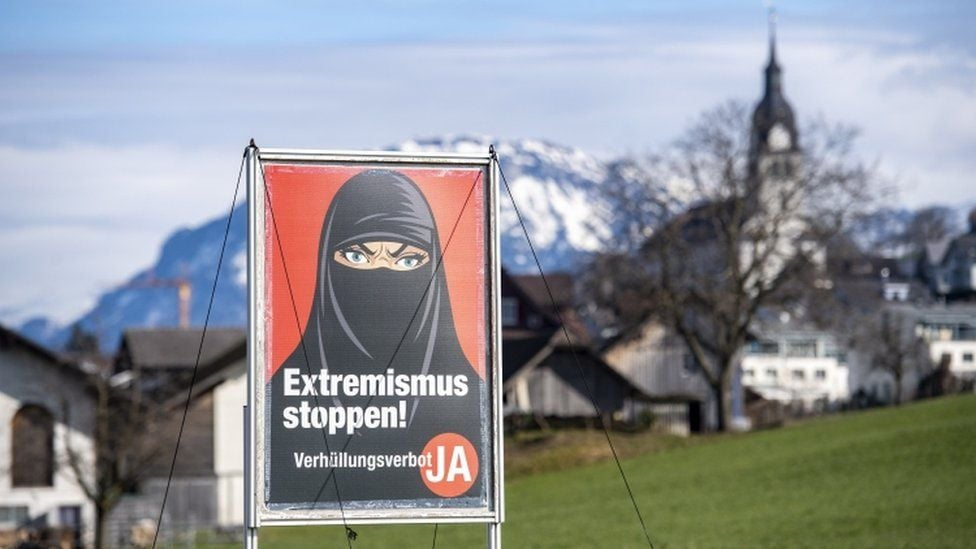 შვეიცარიაში მოქალაქეებმა რეფერენდუმზე საჯარო ადგილებში სახის დაფარვის აკრძალვას მხარი დაუჭირეს
