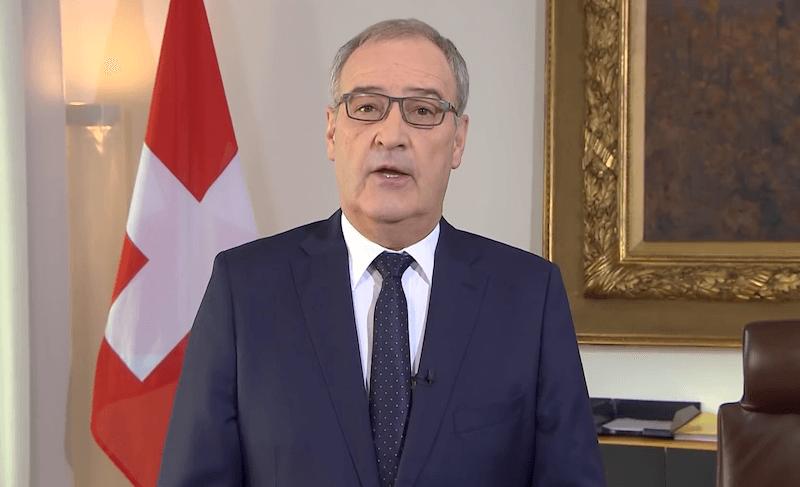 İsveçrə prezidenti İrakli Ğaribaşvilini Gürcüstanın baş naziri vəzifəsinə təyin olunmasını təbrik edir