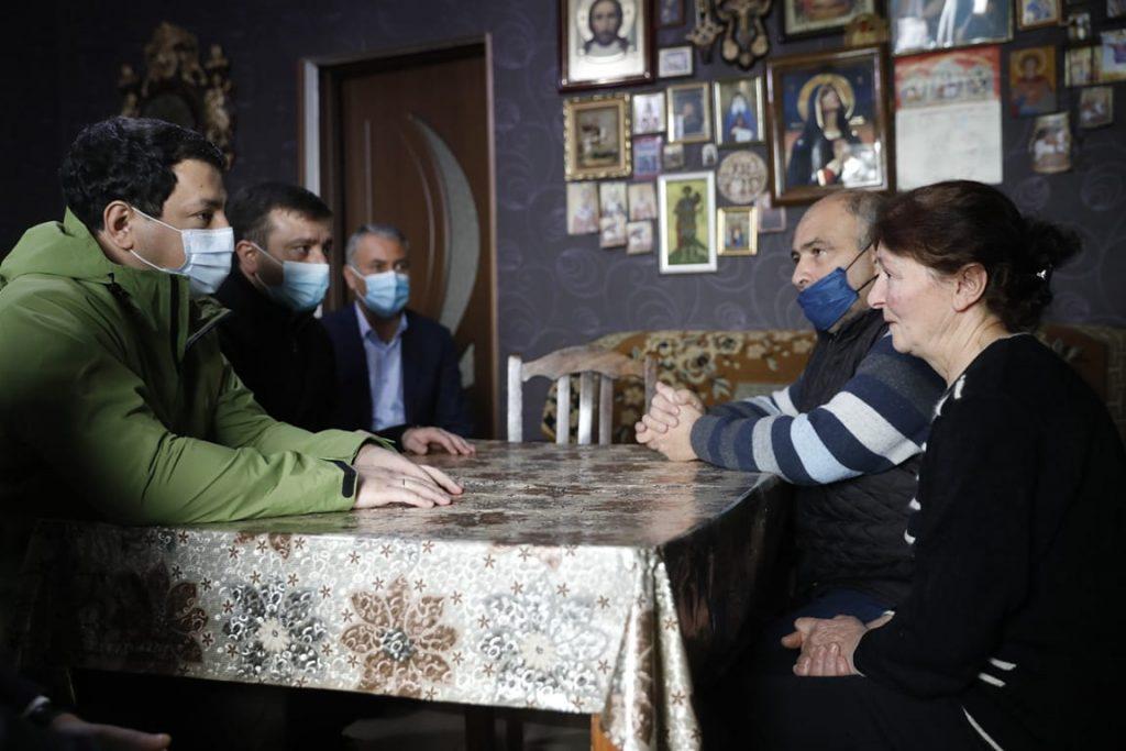 Арчил Талаквадзе встретился с членами семьи Зазы Гахеладзе