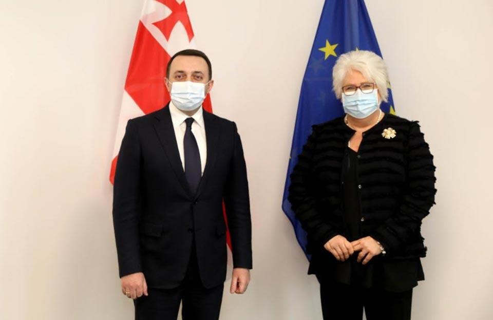 ირაკლი ღარიბაშვილმა და მარინა კალიურანდმა საქართველოს ევროპული ინტეგრაციის პროცესი და მიმდინარე პოლიტიკური ვითარება განიხილეს
