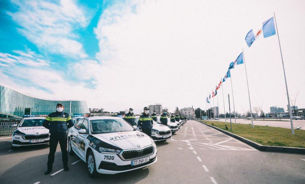 პოლიციის ავტოპარკს 225 ახალი ავტომანქანა შეემატა