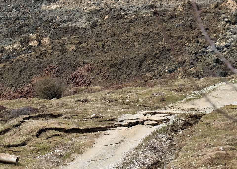 ცაგერის მუნიციპალიტეტში, ლაილაში-ღუს დამაკავშირებელ საავტომობილო გზაზე მეწყერი ჩამოწვა