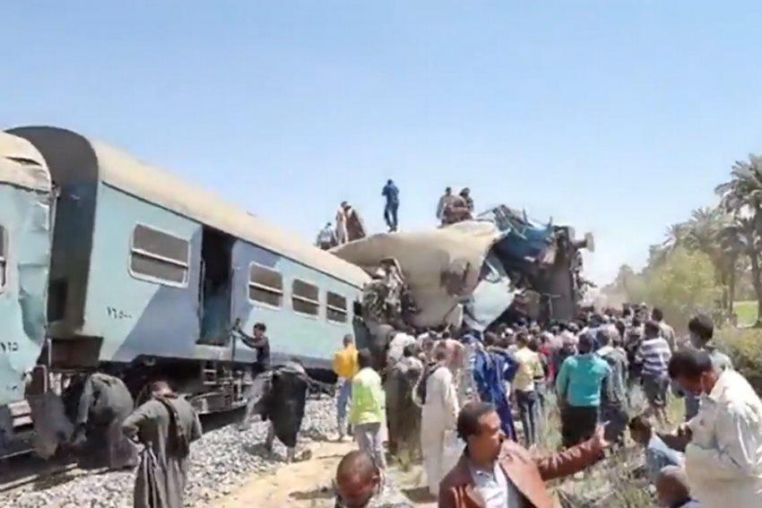 ეგვიპტეში სამგზავრო მატარებლების შეჯახების შედეგად 32 ადამიანი დაიღუპა, 66 კი დაშავდა