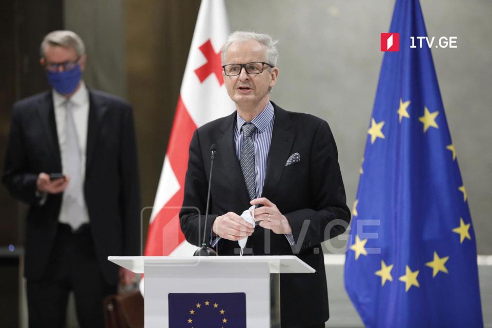 ევროკავშირის მედიატორი კრისტიან დანიელსონი აქვეყნებს წინადადებებს, რომელიც პოლიტიკურ პარტიებს შესთავაზა