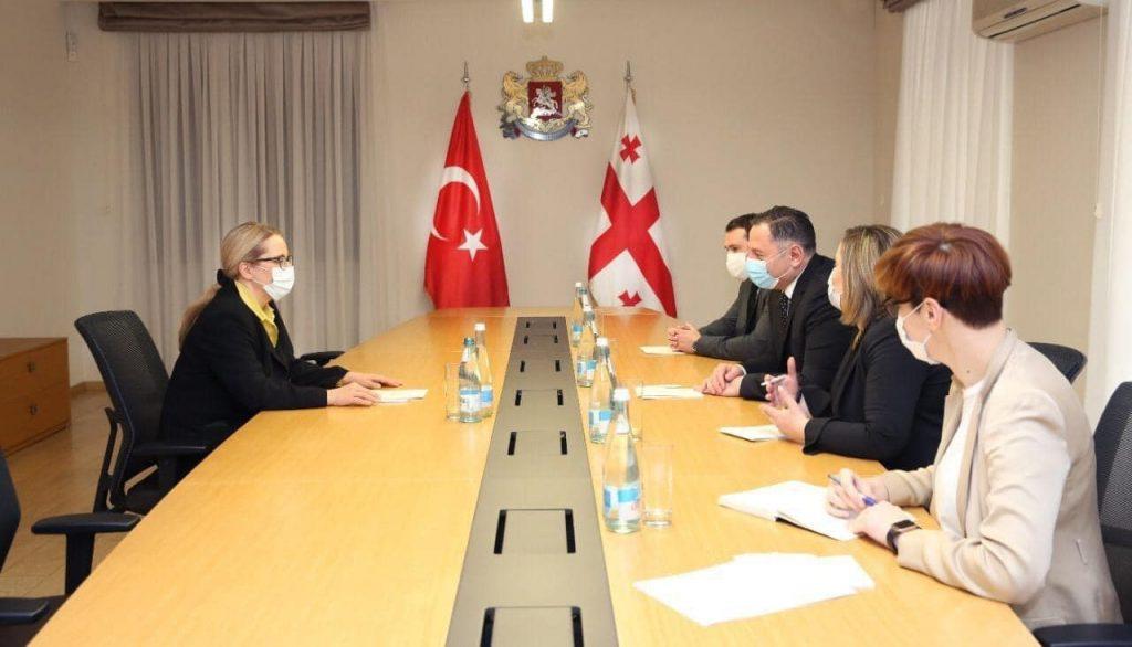 შინაგან საქმეთა მინისტრი თურქეთის ელჩს შეხვდა