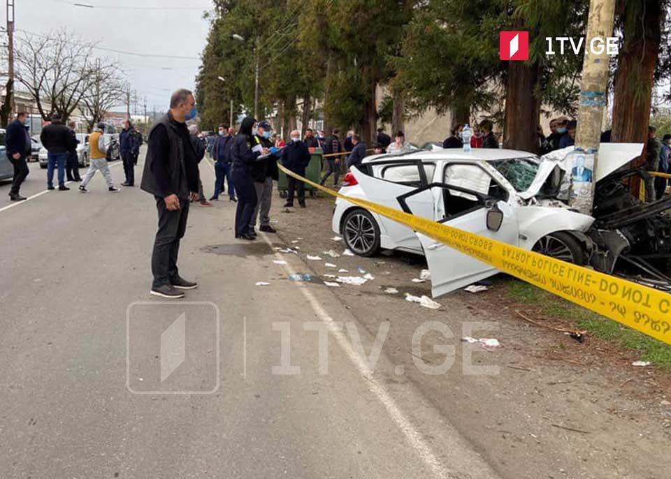 ოზურგეთში ავტოსაგზაო შემთხვევის შედეგად ერთი ადამიანი დაიღუპა