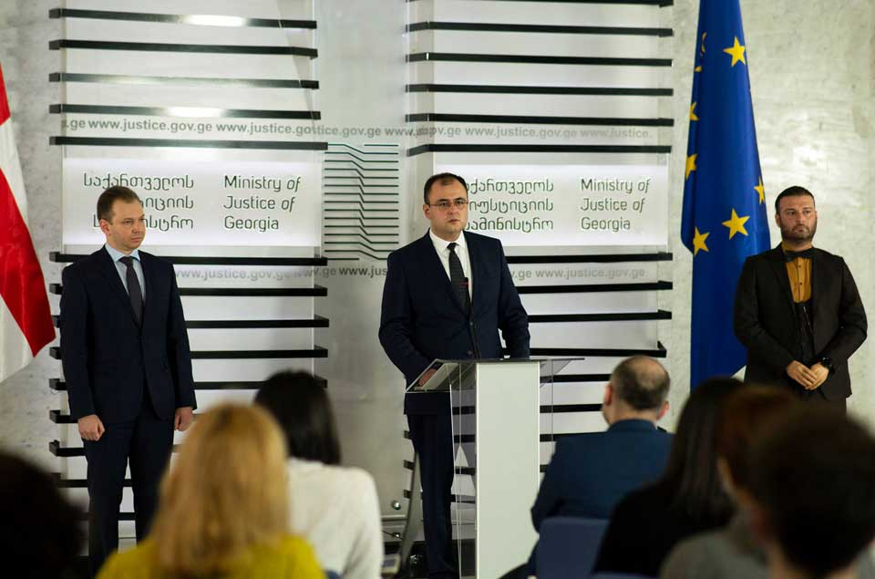 Adliyyə Naziri Rati Breqadze yeni müavinlərini təqdim etdi