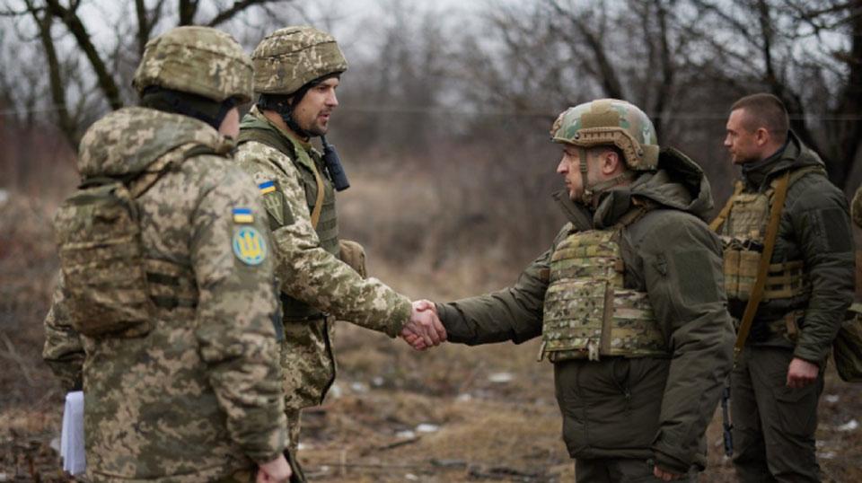 Президент Украины Владимир Зеленский прибыл на Донбасс