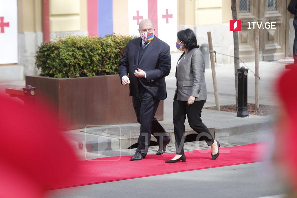 Օրբելիանիների պալատում կայացել է Հայաստանի նախագահի դիմավորման պաշտոնական արարողությունը (ֆոտոշարք)