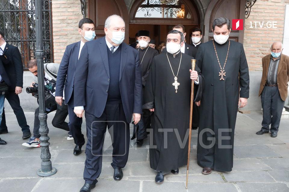 Արմեն Սարգսյանն այցելեց Թբիլիսիի Սուրբ Գևորգ առաջնորդանիստ եկեղեցի