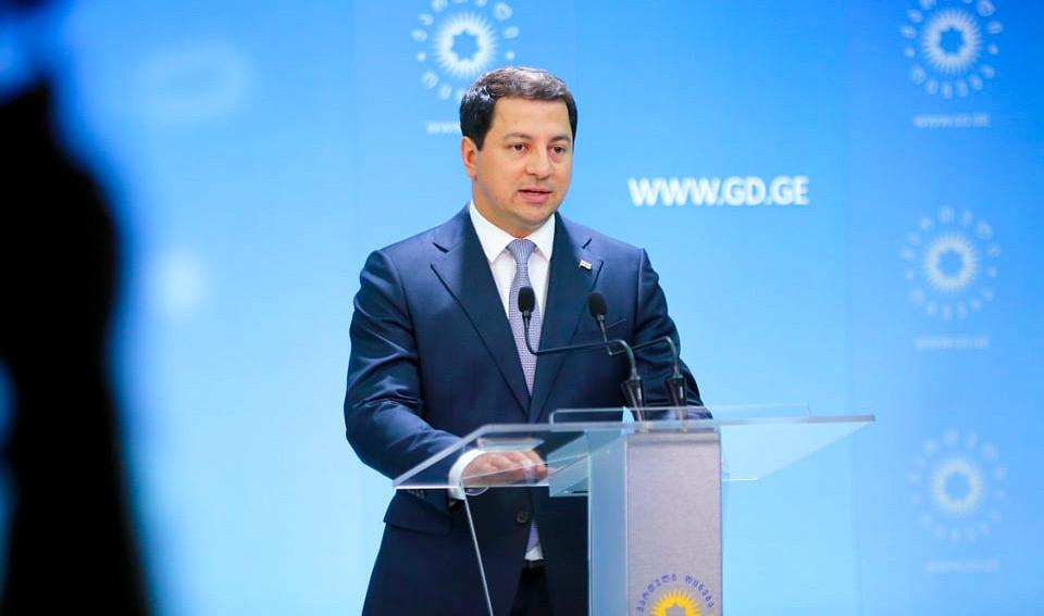 არჩილ თალაკვაძე - შარლ მიშელის ეგდით შექმნილი დოკუმენტის ხელმოწერა არის ქართული საზოგადოებისა და საერთაშორისო პარტნიორების მიმართ ჩვენი მაღალი პასუხისმგებლობის დემონსტრირება, ჯერი ოპოზიციაზეა