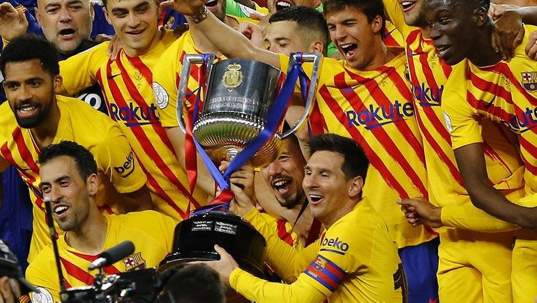 """""""რეალმა"""" """"ბარსელონას"""" ესპანეთის თასის მოპოვება მიულოცა #1TVSPORT"""