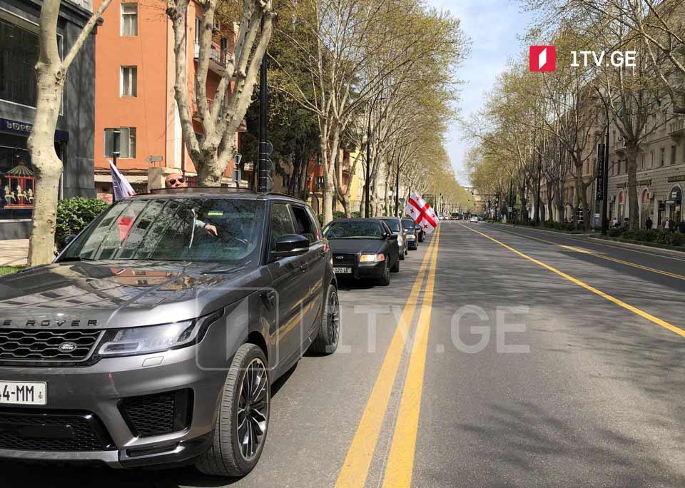 """""""ნამახვანჰესის"""" მშენებლობის წინააღმდეგ თბილისში ავტომობილებით მსვლელობა იმართება"""