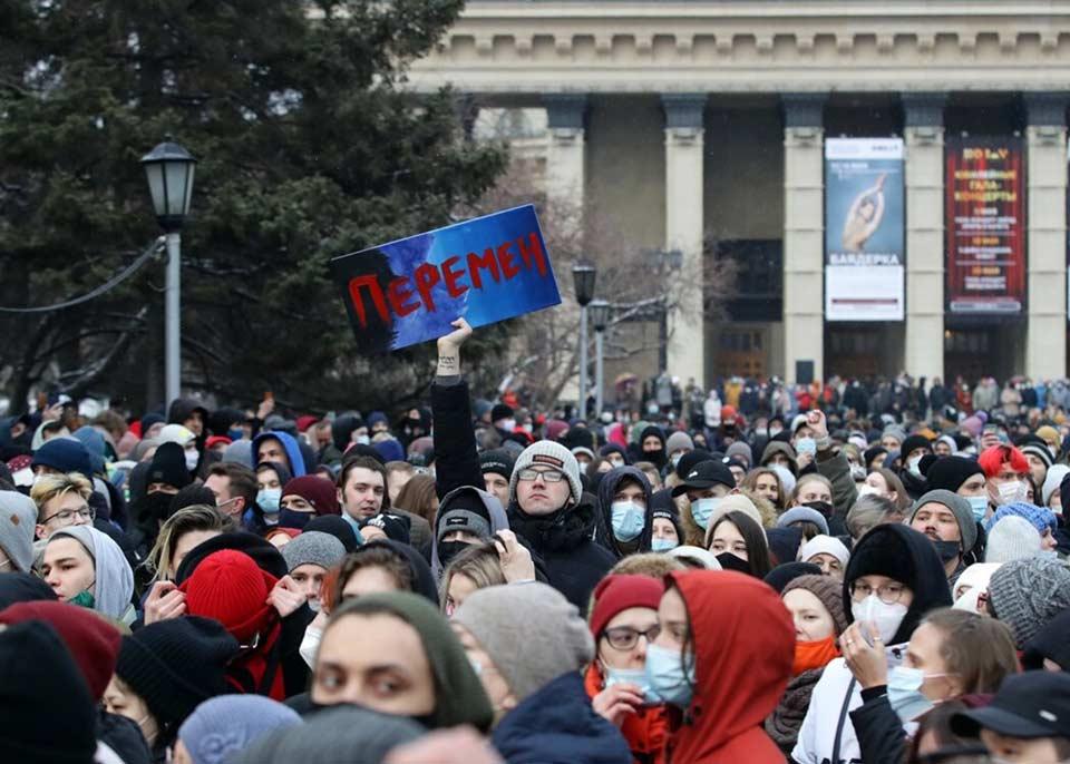 მედიის ინფორმაციით, რუსეთში ალექსეი ნავალნის მხარდამჭერ აქციებზე 1 770 ადამიანი დააკავეს