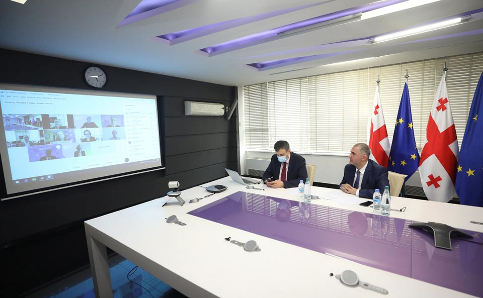 ფინანსთა მინისტრი ლაშა ხუციშვილი საერთაშორისო საფინანსო კორპორაციის ვიცე-პრეზიდენტს შეხვდა