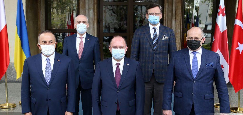 Romanian, Polish and Turkish FMs reaffirm Euro-Atlantic aspirations of Georgia and Ukraine