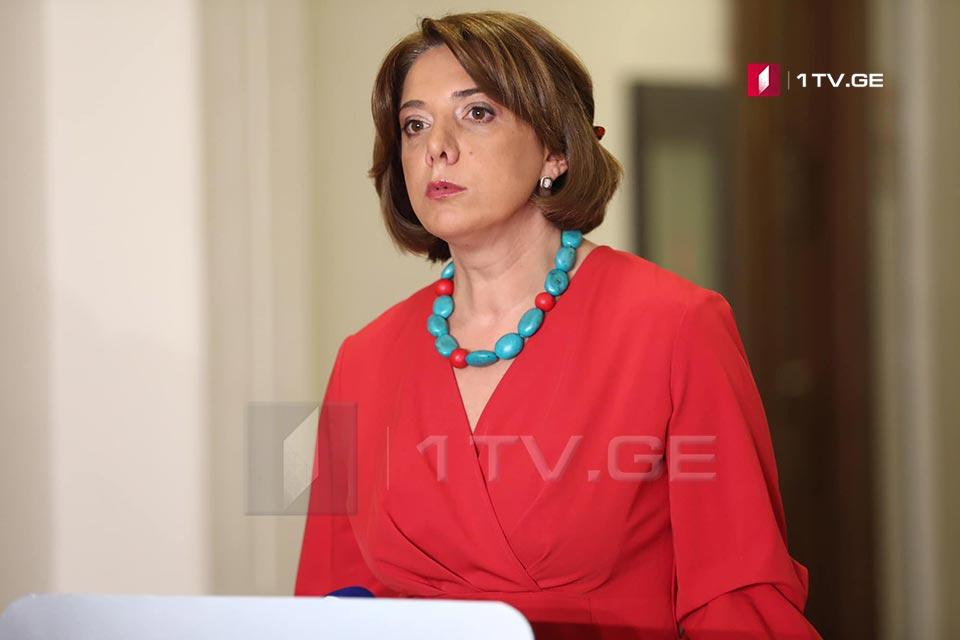 Саломе Самадашвили -  Обе стороны могут говорить о любых изменениях в документе только при участии медиаторов