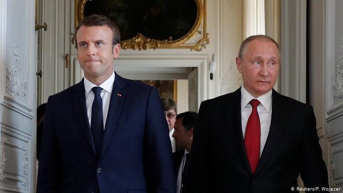 საფრანგეთისა და რუსეთის პრეზიდენტებმა უკრაინაზე, ალექსეი ნავალნიზე და მთიან ყარაბაღზე ისაუბრეს