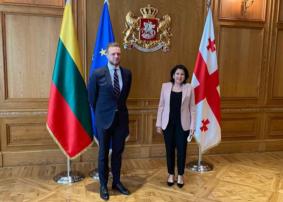 Габриэлюс Ландсбергис - Диалог на высоком уровне между Литвой и Грузией будет продолжен