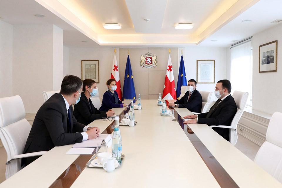 ირაკლი ღარიბაშვილი EBRD-ის კავკასიის რეგიონულ დირექტორს შეხვდა