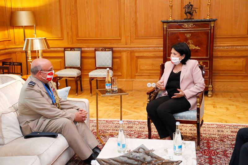 Georgian President meets NATO Military Committee Chair